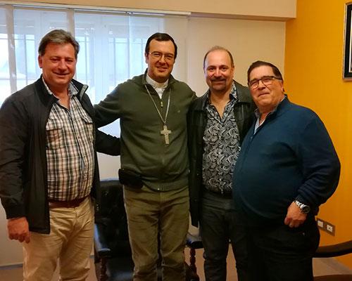 Presentación del nuevo obispo con las autoridades del SECZA